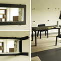 Folding Dining Table Turns into a Mirror, by Porada