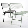 Folding Table and Bench by Taller Ali Bei