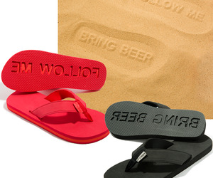 'Follow Me, Bring Beer' Flip Flops