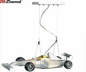 Formula-1 Roadster Chandelier is cool