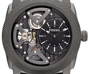 Fossil Machine Twist Leather Watch