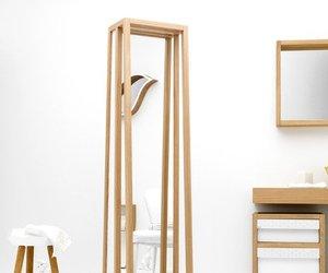 Freestanding Mirror/ Storage