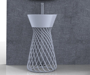 Freestanding washbasin WIRE by Hidra