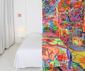 French Artist Covers Half a Hotel Room in Graffiti