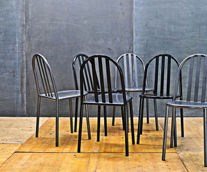 French Industrial Mallet Stevens Chairs