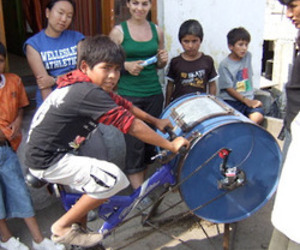 From MIT: The Bicilavadora, an inexpensive bike/washing machine