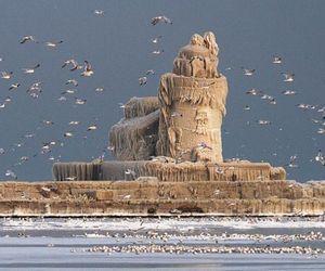 Frozen West Pier Light House