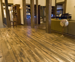 FSC Hickory Floor with FullSawn™ texture