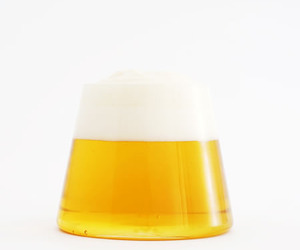 FUJIYAMA GLASS: Beer Glass Looks Like Mt. Fuji