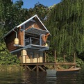The Crib, Fully Recyclable and Sustainable Prefab Cottage
