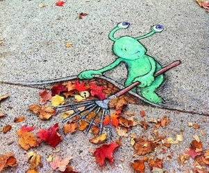 Fun 3D Street Art Made With Chalk | David Zinn