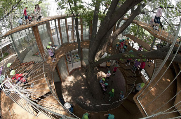 Fun Playground Around A Tree Tezuka Architects