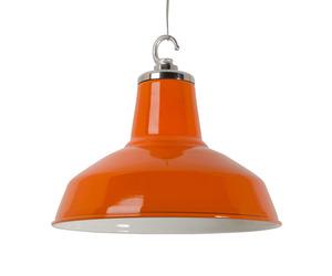 Funky enamelled pendant - Orange