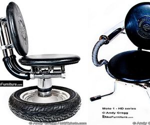 Furniture created by Harley-Davidson parts