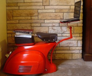 Furniture From Discarded Vespa Scooter