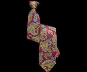 Fuschia Pink Paisley Printed Silk Tie