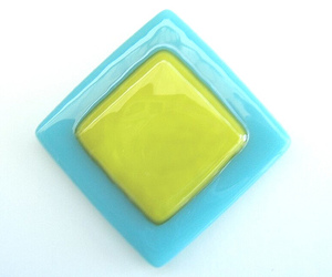 Fused Glass Tile from Uneek Glass Fusions