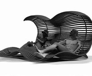 Futuristic Longue Happy Chaise by Dima Loginoff