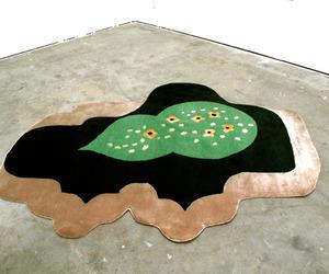 Garden hand-knotted silk/wool rug
