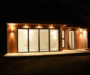 Garden room by night