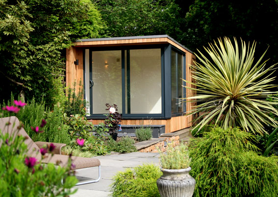 Garden room with attached store from roomworks for Garden shed 2 rooms