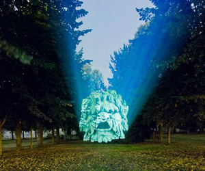 Gargoyle Tree Projections by Clément Briend