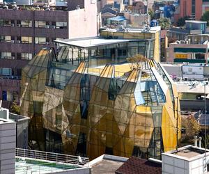 Gem Inspired Yellow Diamond Building