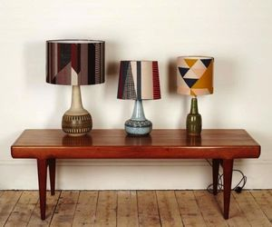 Geometric Printed Lamp Shades By Tamasyn Gambell