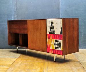 George Nelson Walnut Thin Edge Hi-Fi Cabinet Credenza