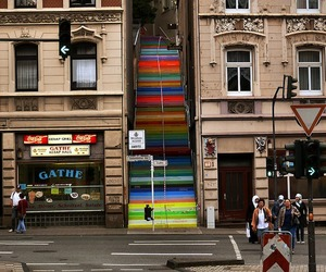 German Painted Stairs by Horst Glasker
