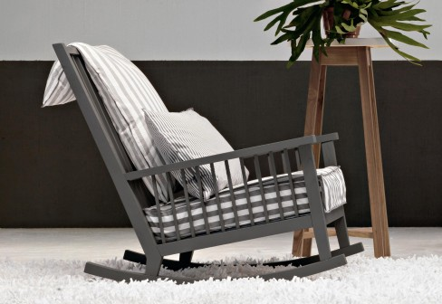 Gervasoni Grey Rocking Chair
