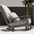 Gervasoni, Grey Rocking Chair
