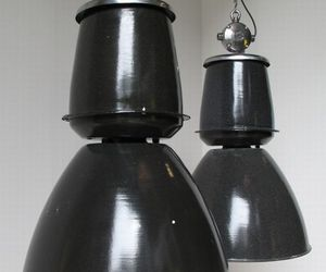 Giant black Czech downlighters