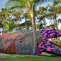 Crocheted Jacaré, Giant Crocheted Alligator by Olek