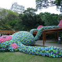 Fat Monkey Made of 10,000 Flip Flops by Florentijn Hofman