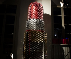 Giant Lipstick Sculpture by Marija Kablyte