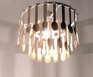 Gita: Spoon & Fork Pendant Light