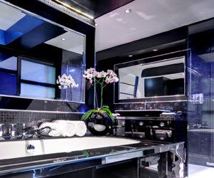 Glamorous Black Bathroom Mirror