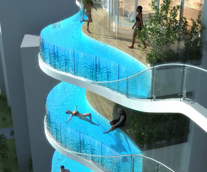 Glass Balcony Pools at Aquaria Grande Tower