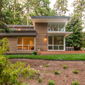 Glass Box in the Forest by BUILD LLC