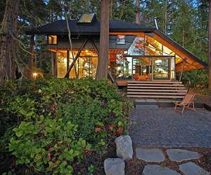Glass Cabin in LaConner, Washington
