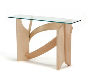 Glass Hall Table by Nico Yektai