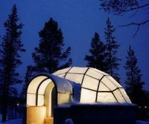 Glass Igloos Above The Arctic Circle