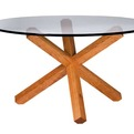 Glass Top Ukiah Table in FSC-certified Cherry