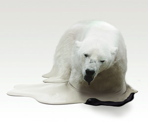 Global Warming Melting Animal Sculptures by Takeshi Kawano