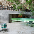 Green Cave Bar Glows in the Dark | A2 Arquitectos