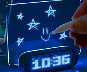 Glowing LED Memo Alarm Clock