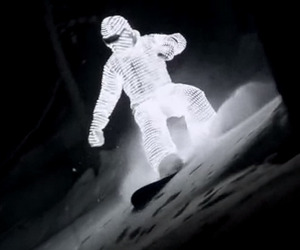 Glowing Snowboarder Video