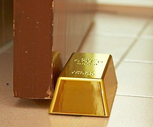 Gold Bullion Door Stop