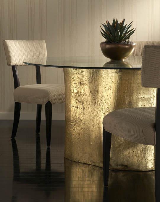 Gold Leaf Log Dining Table